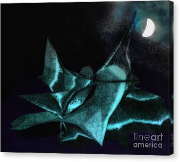 A Dream - Flying To The Moon Canvas Print by Gerlinde Keating - Galleria GK Keating Associates Inc