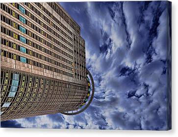 Canvas Print featuring the photograph A Drifting Skyscraper by Ron Shoshani