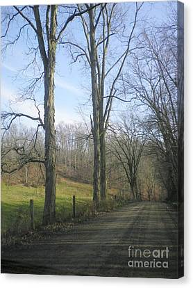 A Drive In The Country Canvas Print by R A W M