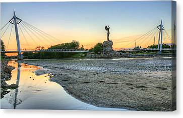 A Dry Heat In Wichita Kansas Canvas Print by JC Findley