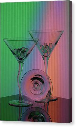 Canvas Print featuring the photograph A Dry Martini by Mike Martin