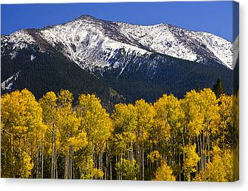 A Dusting Of Snow On The Peaks Canvas Print