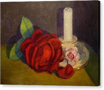 A Dying Rose Canvas Print