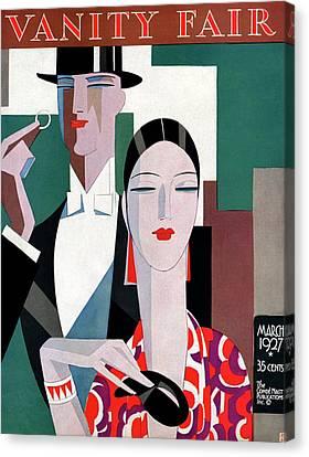 Earrings Canvas Print - A Elegant Couple by Eduardo Garcia Benito