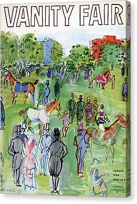 A Equestrian Scene Canvas Print by Raoul Dufy
