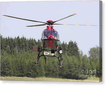 A Eurocopter Ec135 Used By German Canvas Print by Timm Ziegenthaler