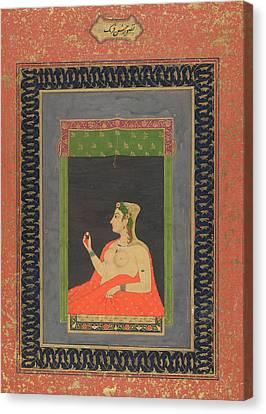 A European Courtesan Canvas Print by British Library