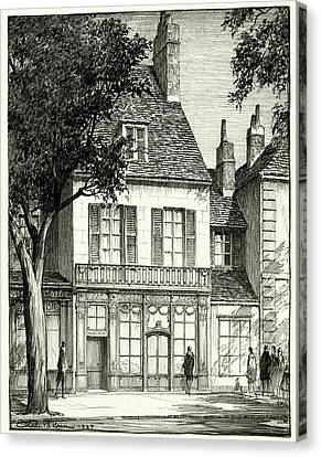 A Facade Of A Store Canvas Print by Chester B. Price
