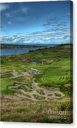 Canvas Print featuring the photograph A Fairway To Heaven - Chambers Bay Golf Course by Chris Anderson