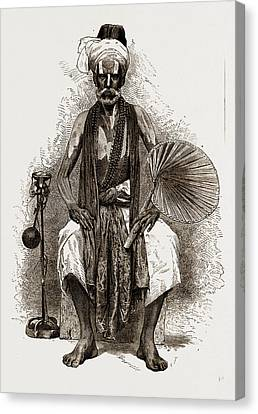 A Fakir, India, 1876 Canvas Print by Litz Collection