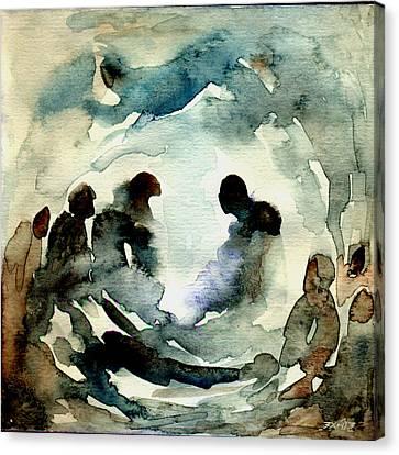 Sikh Art Canvas Print - A Family Affair by TS Manhotra