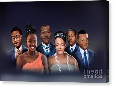 A Family Portrait Canvas Print by Reggie Duffie
