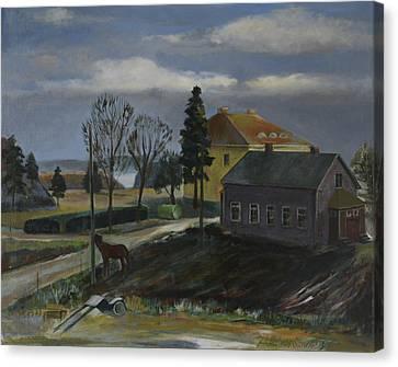 A Farm Canvas Print by Jukka Nopsanen