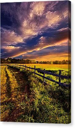 A Fence Runs Through It Canvas Print by Phil Koch