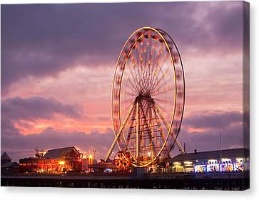 A Ferris Wheel On The South Pier Canvas Print by Ashley Cooper