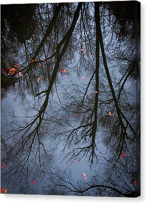 Canvas Print featuring the photograph A Few Leaves Left by Haren Images- Kriss Haren