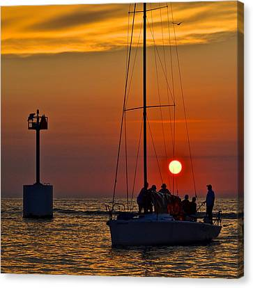 A Fine Days End Canvas Print by Frozen in Time Fine Art Photography