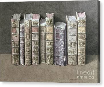 A Fine Library Canvas Print by Jonathan Wolstenholme