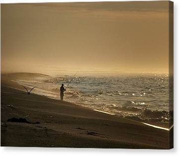 A Fisherman's Morning Canvas Print by GJ Blackman