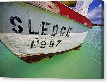 A Fishing Boat Named Sledge Canvas Print by David Letts