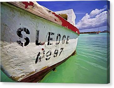 A Fishing Boat Named Sledge II Canvas Print by David Letts