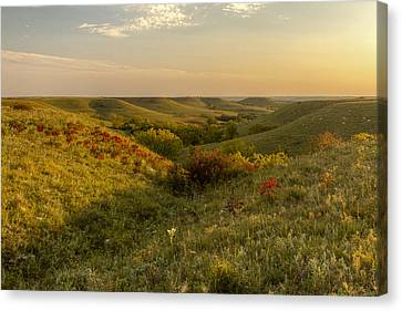 Canvas Print featuring the photograph A Flint Hills View by Scott Bean