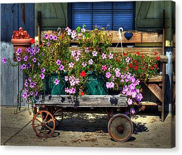 A Flower Wagon Canvas Print by Tri State Art