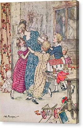 A Flushed And Boisterous Group, Book Illustration  Canvas Print by Arthur Rackham