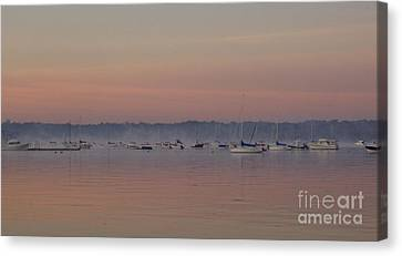 Canvas Print featuring the photograph A Foggy Fishing Day by John Telfer