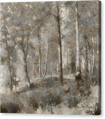 Featured Canvas Print - A Foggy Morning In November by Dragica  Micki Fortuna
