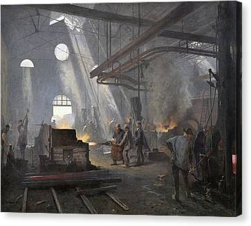 A Forge, 1893  Canvas Print by Fernand Cormon