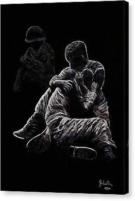 Canvas Print featuring the painting My Friend Killed In Korean War by Bob Johnston