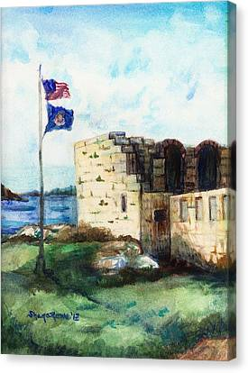 A Fort In Maine Canvas Print by Shana Rowe Jackson