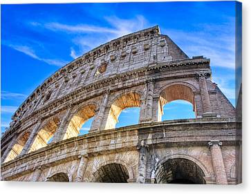 A Fragment Of Rome's Glory - Colosseum Canvas Print