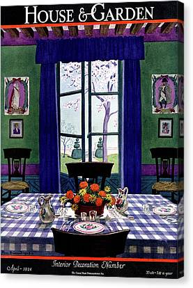 A French Provincial Dining Room Canvas Print