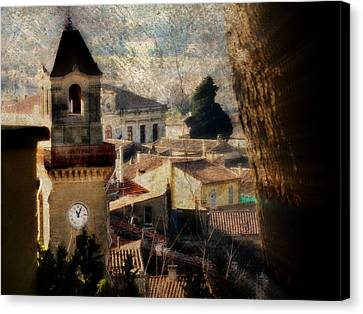 A French Village Canvas Print by Tina Concetta Marzocca