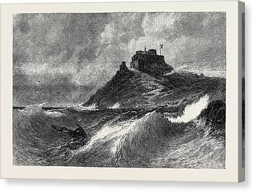Stormy Weather Canvas Print - A Fresh Gale Mount Orgueil Jersey by English School