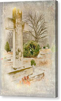 Headstones Canvas Print - A Friend Missed by Dan Carmichael