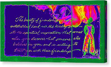 A Friendship Letter Canvas Print by Angela L Walker