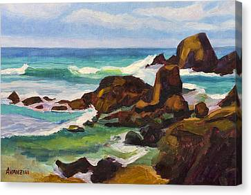 Canvas Print featuring the painting A Frouxeira Galicia by Pablo Avanzini