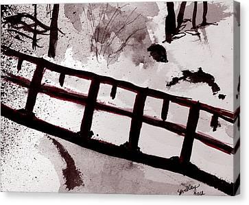 A Frozen River Canvas Print by Shelley Bain
