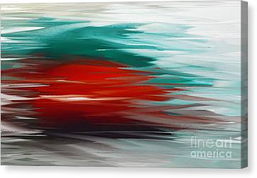 A Frozen Sunset Abstract Canvas Print by Andee Design