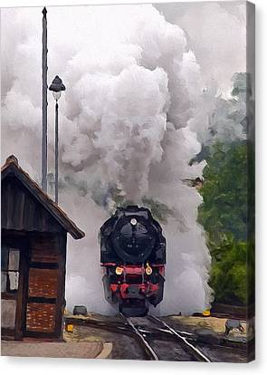 A Full Head Of Steam Canvas Print by Michael Pickett