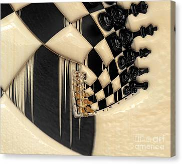 A Game Of Chess Canvas Print by Liane Wright
