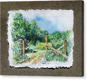 A Gate To The Ranch Briones Park California Canvas Print by Irina Sztukowski