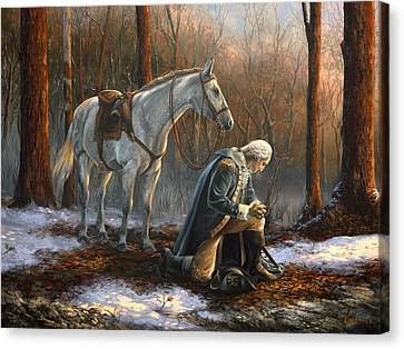 Revolutionary Canvas Print - A General Before His King by Tim Davis