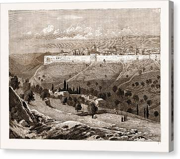 A General View Of The City Of Jerusalem Canvas Print by Litz Collection