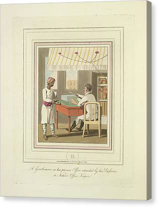 Sir Charles Canvas Print - A Gentleman And An Office Keeper by British Library