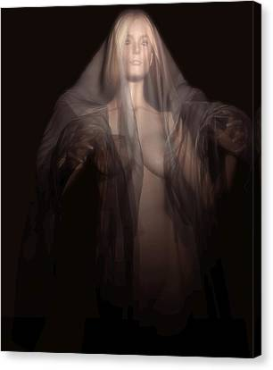 Canvas Print featuring the digital art A Ghost In The Dark by Kaylee Mason