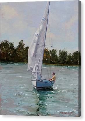 A Gift Of Memories On Rhodes19 Canvas Print by Laura Lee Zanghetti
